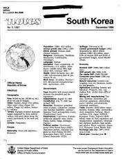 Background Notes  South Korea PDF