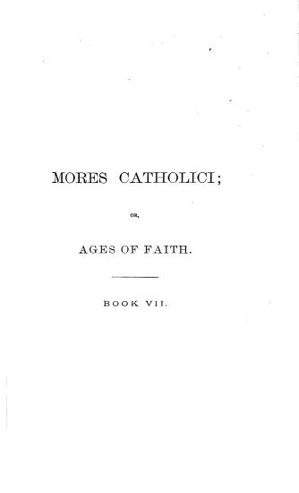 Mores Catholici  Books VII IX PDF