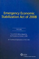 Emergency Economic Stabilization Act Of 2008 Book PDF