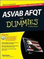 ASVAB AFQT For Dummies  with Online Practice Tests PDF