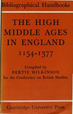 The High Middle Ages in England 1154-1377