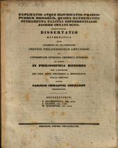 Explicatio atque diiudicatio praecipuorum modorum, quibus mathematici fundamenta calculi differentialis iacere conati sunt: Diss. math