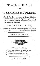 Tableau de l'Espagne moderne: Volume2