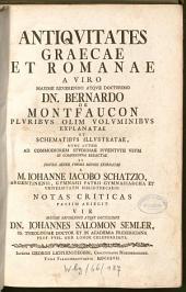 Antiquitates Graecae Et Romanae