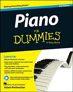 Piano For Dummies  Book   Online Video   Audio Instruction Book