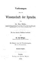 Vorlesungen über die Wissenschaft der Sprache: Band 2