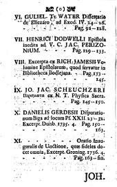 Groningana Miscellanea in miscellaneorum Duisburgensium continationem publicata (a Daniele Gerdes.)