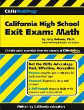 CliffsTestPrep California High School Exit Exam-Mathematics