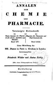 Justus Liebig's Annalen der Chemie: Bände 37-38