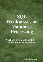 SQL Weaknesses on Database Processing PDF