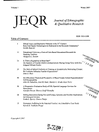 Journal of Ethnographic and Qualitative Research PDF