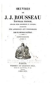 Oeuvres de J.J. Rousseau: Volume2