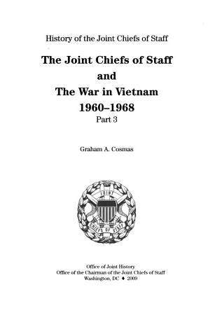 The Joint Chiefs of Staff and the War in Vietnam  1960 1968 PDF