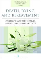 Death  Dying  and Bereavement PDF