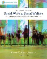 Brooks Cole Empowerment Series  Introduction to Social Work   Social Welfare  Critical Thinking Perspectives PDF