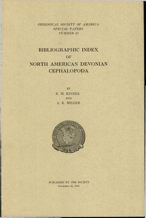 Bibliographic Index of North American Devonian Cephalopoda PDF