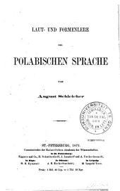 Laut- und Formenlehre der polabischen Sprache