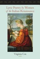 Lyric Poetry by Women of the Italian Renaissance PDF