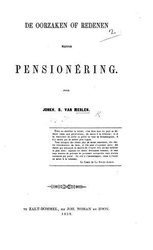 De oorzaken of redenen mijner pension  ring