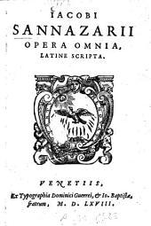 Jacobi Sannazarii opera omnia, latine scripta