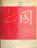 China  an Analytical Survey of Literature PDF