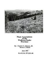 Plant associations of the Wallowa-Snake Province