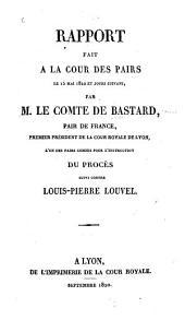 Rapport fait à la Cour des pairs: le 15 mai 1820 et jours suivans