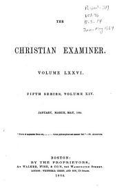 The Christian Examiner: Volume 76