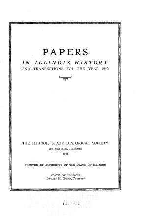 Papers in Illinois History and Transactions PDF