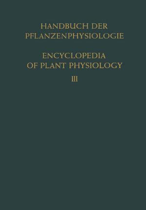 Pflanze und Wasser   Water Relations of Plants