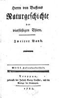 Herrn Buffons Naturgeschichte der vierf    igen Thiere PDF