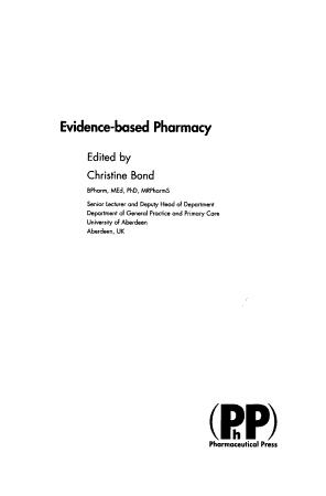 Evidence based Pharmacy PDF