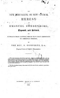 The New Jerusalem  Or  New Church  Heresy of Emanuel Swedenborg Exposed and Refuted  in Extracts from Letters which Have Been Addressed to Christian Friends  MS  Notes PDF