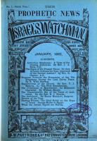 Israel s watchman  and prophetic expositor   afterw   The prophetic news and Israel s watchman  ed  by A  Edersheim   1st  7th year PDF