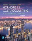 Horngren s Cost Accounting  Student Value Edition Plus MyAccountingLab with Pearson EText    Access Card Package PDF