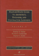 State By State Guide to Architect  Engineer  and Contractor Licensing PDF
