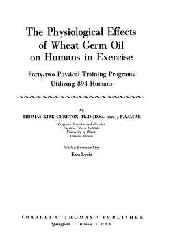 The Physiological Effects of Wheat Germ Oil on Humans in Exercise PDF