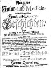 Sammlung von Natur- und Medicin- wie auch hierzu gehörigen Kunst- und Literatur-Geschichten so sich von 1717-26 in Schlesien und anderen Orten begeben ... und als Versuch ans Licht gestellet: Band 33