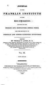 Journal of the Franklin Institute: Volume 9; Volume 13