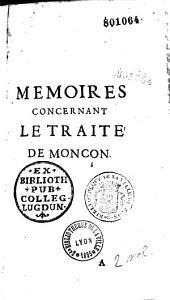 Memoires concernant le traité de Monçon
