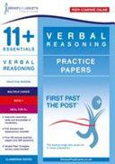 11+ Essentials Verbal Reasoning Practice Papers
