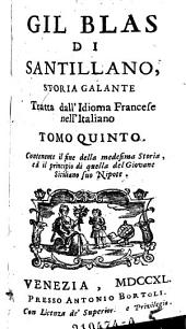 Gil Blas di Santillano, Storia Galante
