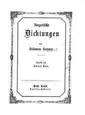 Ungarische Dichtungen [Katalin and Kevéháza] ... Deutsch von A. Dux