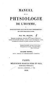 Manuel de la physiologie de l'homme ... Deuxième édition, ... augmentée