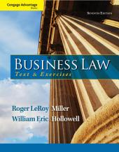 Cengage Advantage Books: Business Law: Text and Exercises: Edition 7