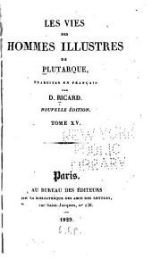 Les vies des hommes illustres de Plutarque: Volume15
