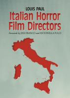 Italian Horror Film Directors PDF