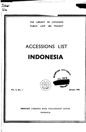 Accessions List  Indonesia  Malaysia  Singapore  and Brunei PDF