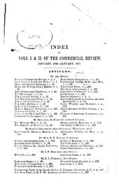 De Bow's Commercial Review of the South & West: Volumes 1-2