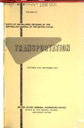 Digests of unpublished decisions of the Comptroller General of the United States: Transportation, Volumes 20-26